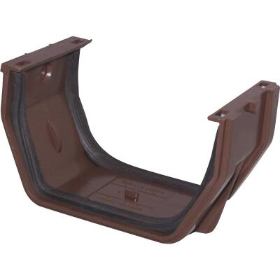 Raingo 5 In. Vinyl Brown Slip-Joint Gutter Connector