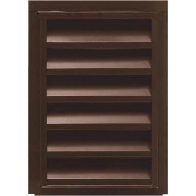 "NorWesco 12"" x 18"" Rectangular Brown Gable Attic Vent"