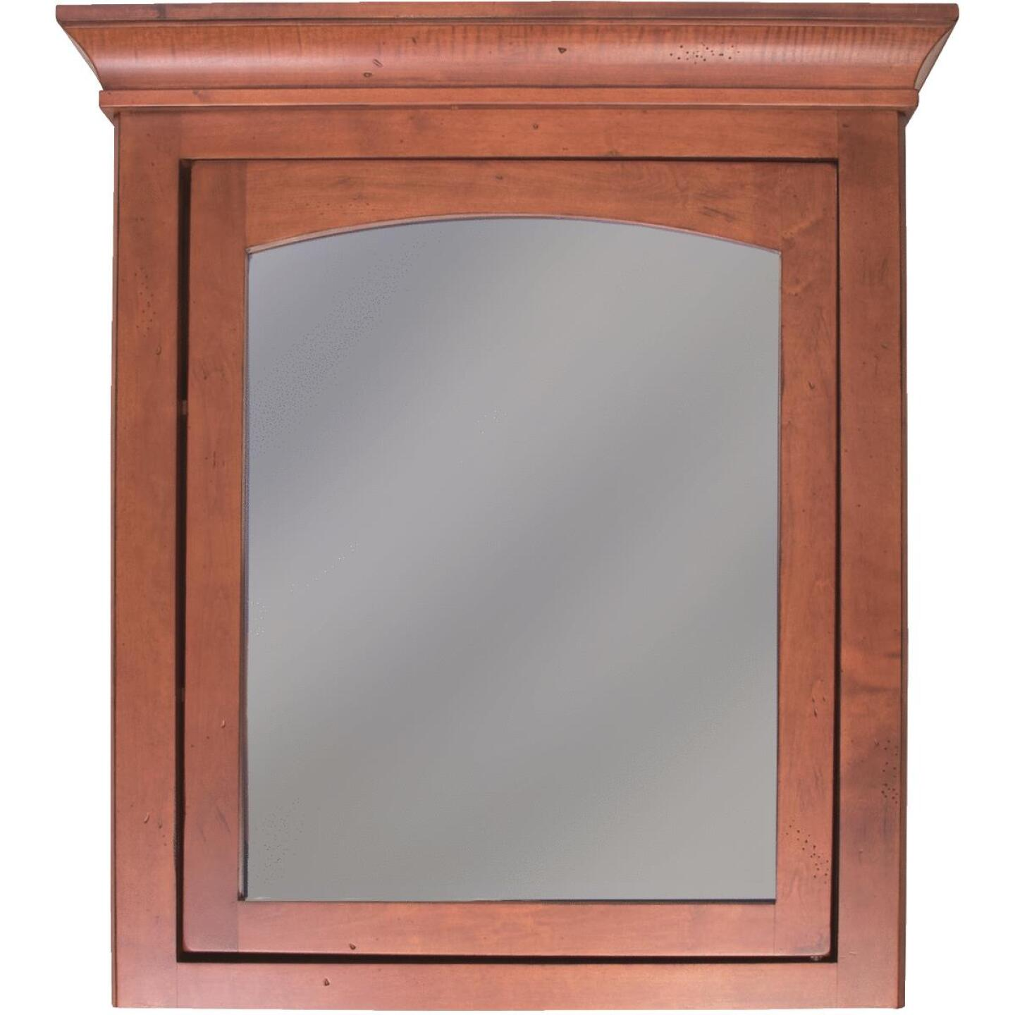 Sunny Wood Expressions Cinnamon 27 In. W x 32 In. H x 6-1/2 In. D Single Mirror Surface Mount Medicine Cabinet Image 1