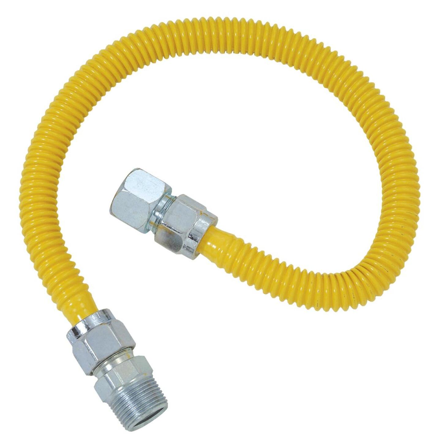 BrassCraft ProCoat 5/8 In. x 1/2 In. x 48 In. Gas Connector Image 1