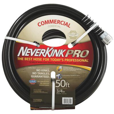 Neverkink Pro 3/4 In. Dia. x 50 Ft. L. Commercial Garden Hose